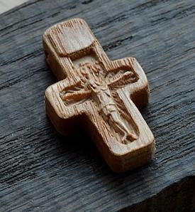 Детский крестик с лучами