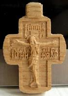 Крестик резной из дуба